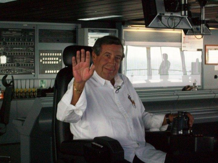 Mario on the Bridge onboard Liberty of the Seas