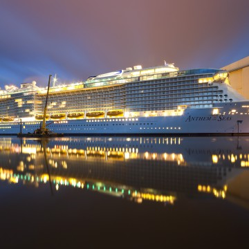 Thumbnail: Watch Here: Anthem of the Seas Floats Out For the First Time
