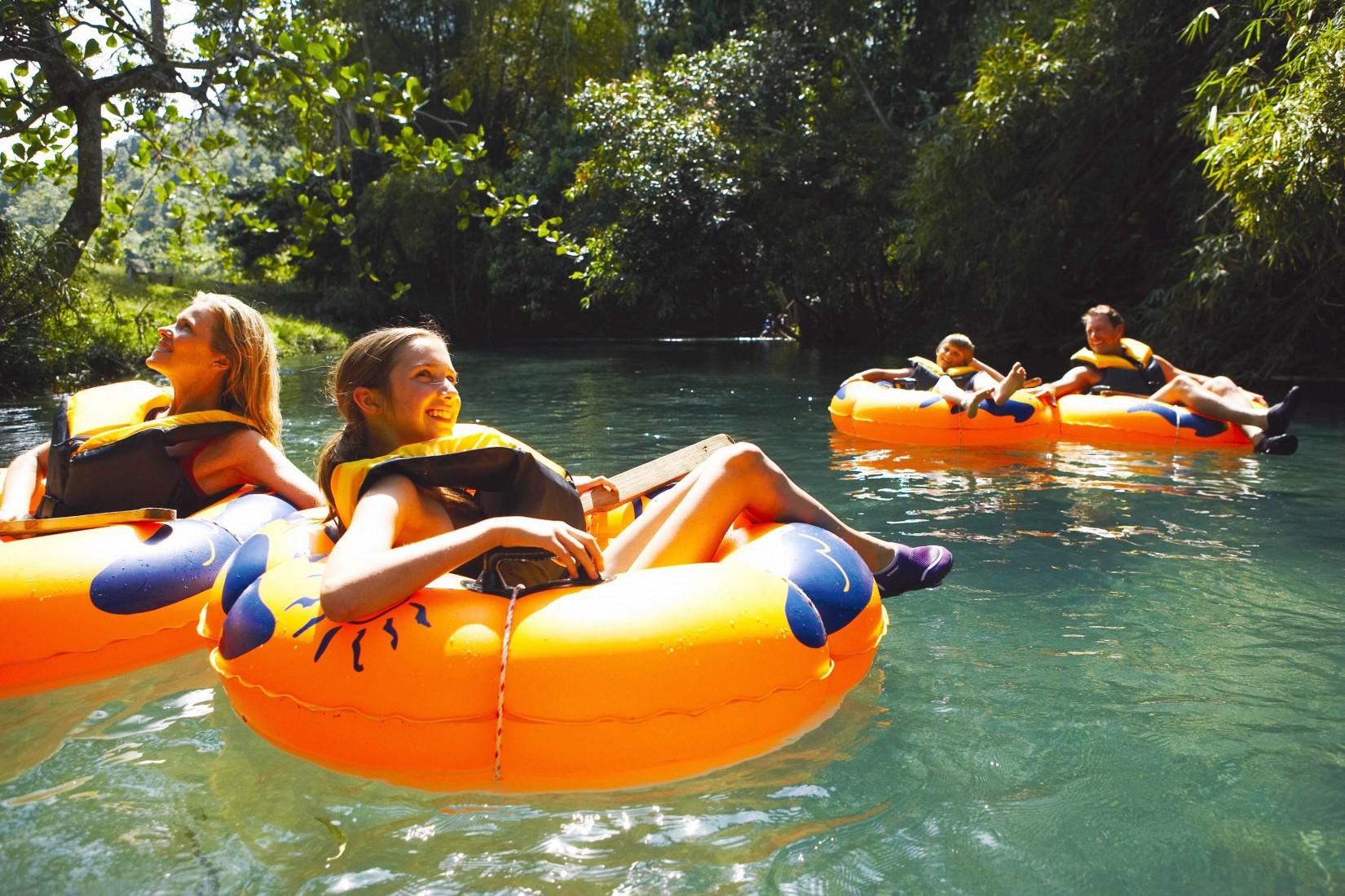 Inner tubing on the white river